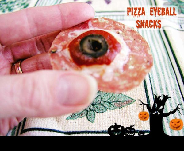 Paleo Pizza Eyeball snacks