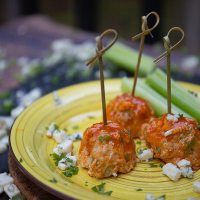 blue cheese buffalo chicken balls